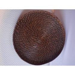 Tablett Rattan Rund Drehbar