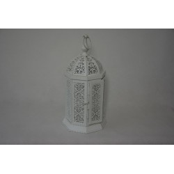 Laterne Maroko Weiß