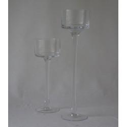 Kerzenhalter Glasschale Klar, Rund - auf Fuß -15 cm hohe