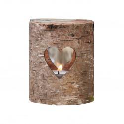 Teelichthalter Baum Rinde & Herz