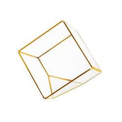 Metall Dekogefäß_ Cube Schrag